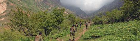 Tajikistan, U.S. Train in the Mountains